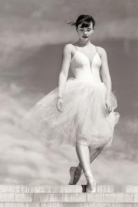 Descending Grace Ballerina by Johnny Kerr