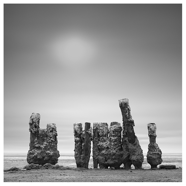 Salton Sea Black and White long exposure landscape photography by Johnny Kerr