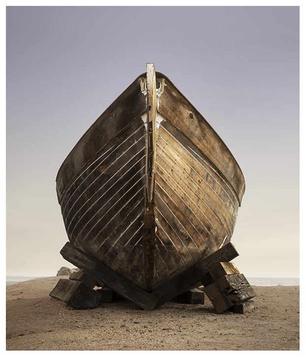 Salton Sea boat on land by Johnny Kerr