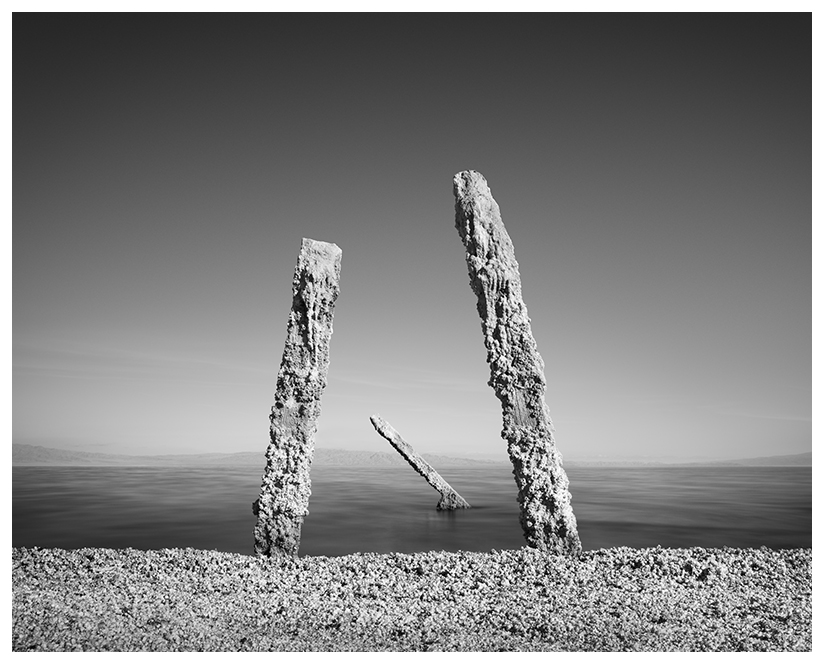 salton sea long exposure black and white seascape by Johnny Kerr