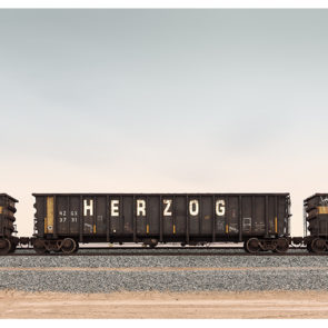 Herzog train landscape in California by Johnny Kerr