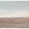 minimalist landscape eccentric circles on the salton sea beach by Johnny Kerr