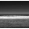 long exposure moon beach seascape