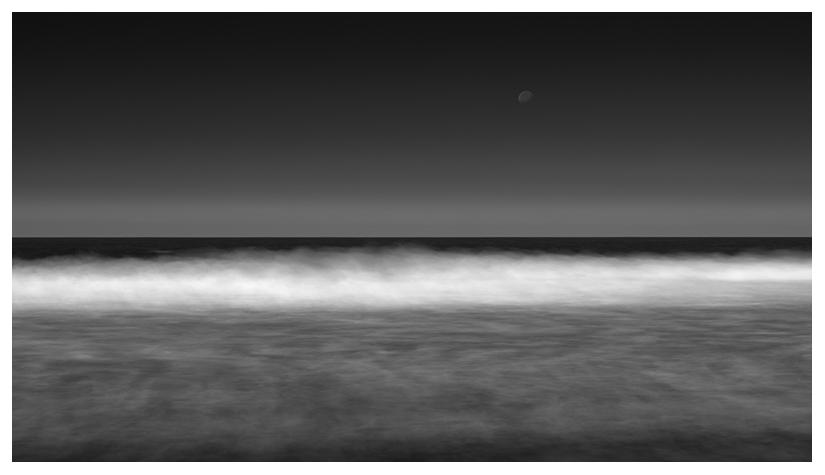 long exposure moon beach seascape