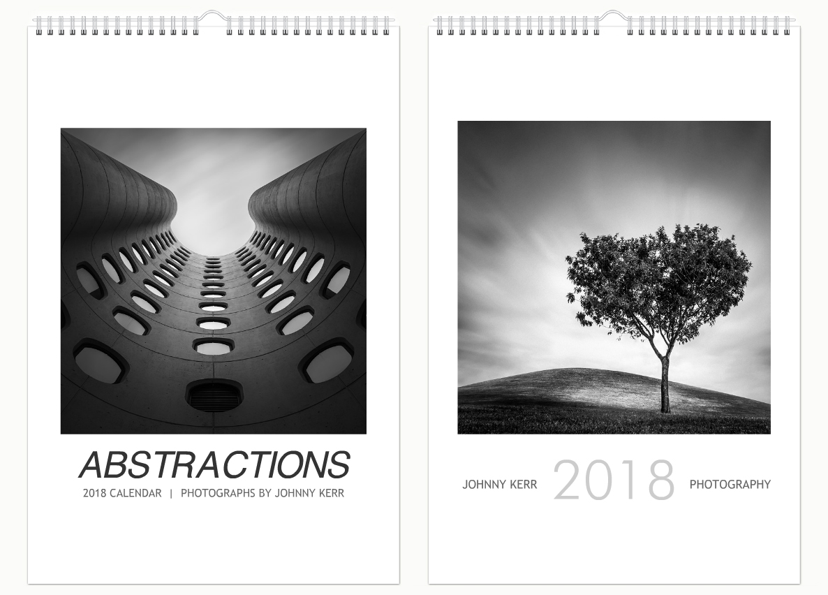 black and white Johnny Kerr photography calendar
