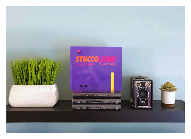 Stuccoland Book on Shelf